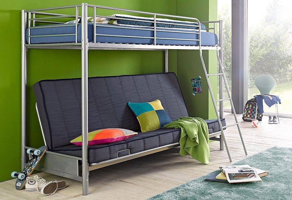 Etagenbetten Metall : Kinder etagenbett bettgestell cm metall weiß in zug kaufen