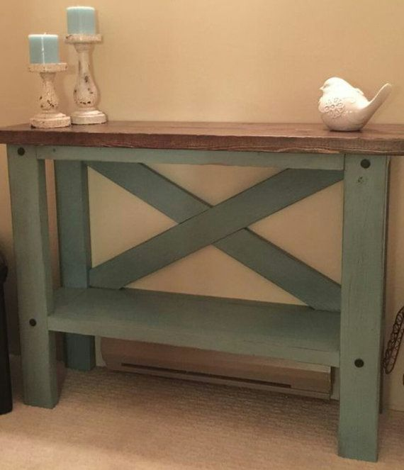 This Farm House Console Table brings a little rustic charm into your