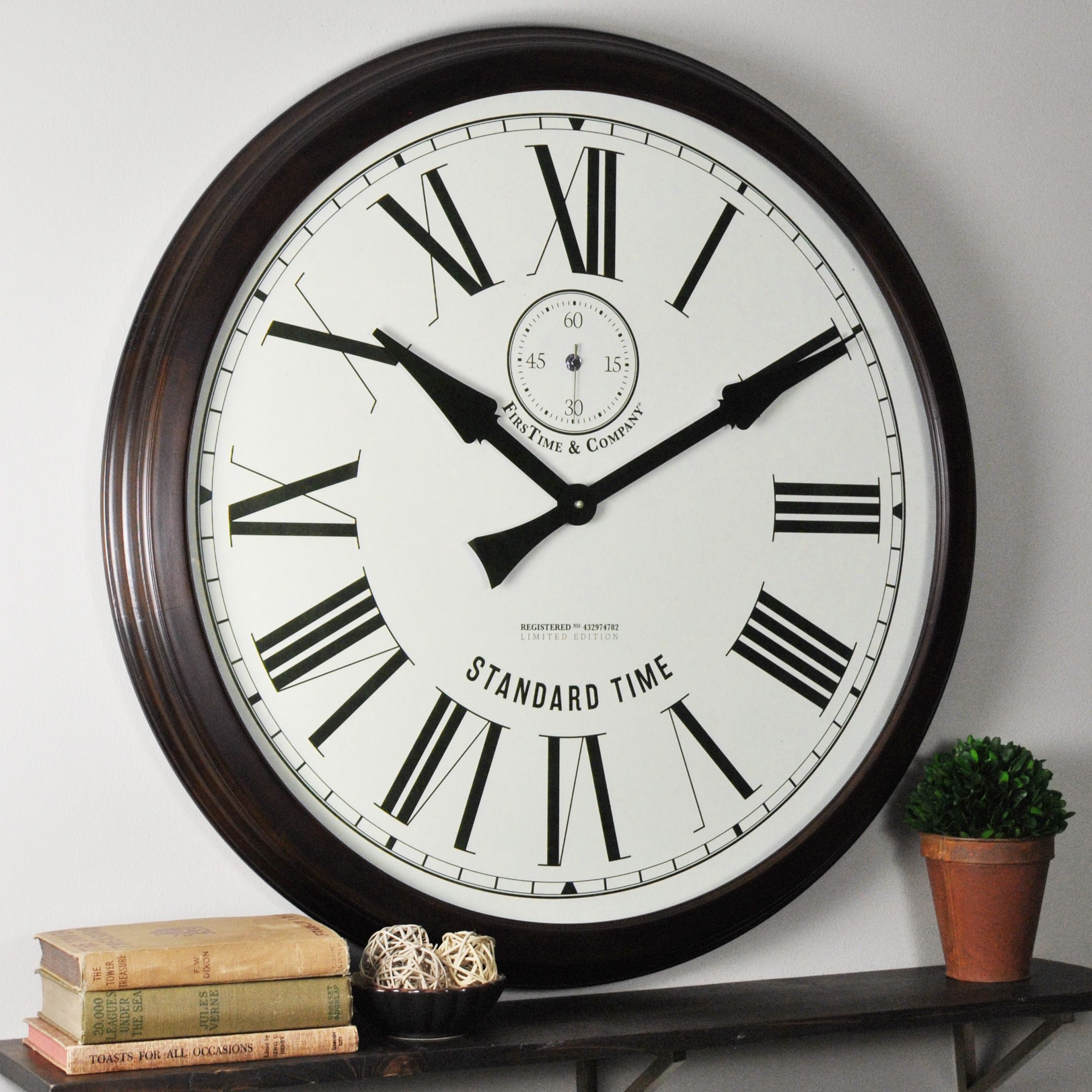 Firstime u co oversized heritage wood wall clock products
