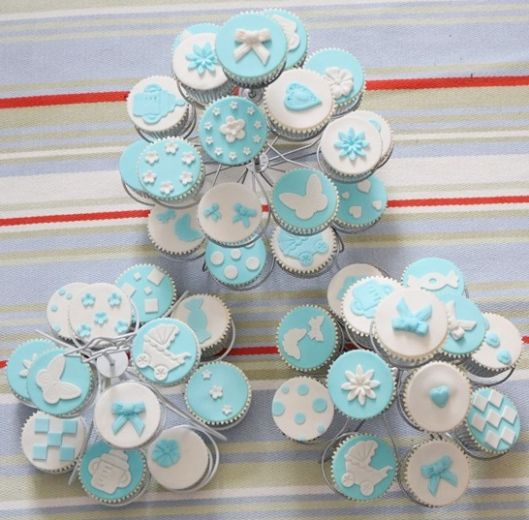 zuckers e babyparty cupcakes baby shower ni o. Black Bedroom Furniture Sets. Home Design Ideas