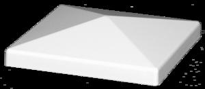 3 1 2 Pyramid Flat Vinyl Post Cap External Lmt 1000w White Post Cap Pyramids Vinyl