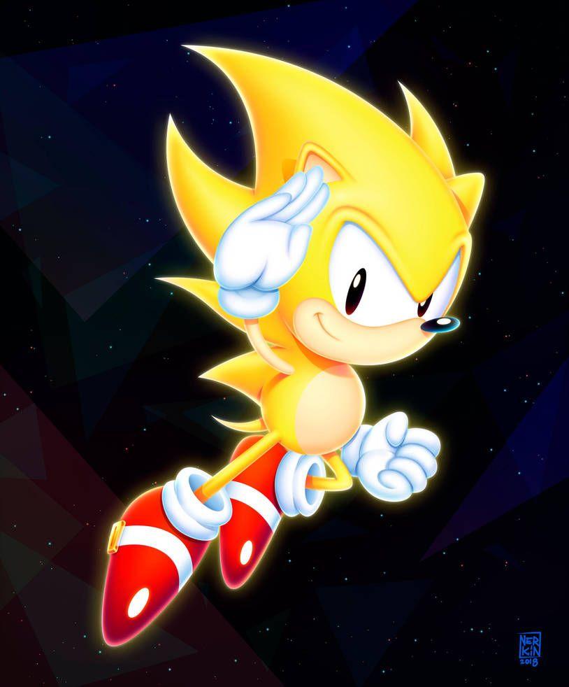 Super Sonic By Nerkin Sonic Hedgehog Art Classic Sonic
