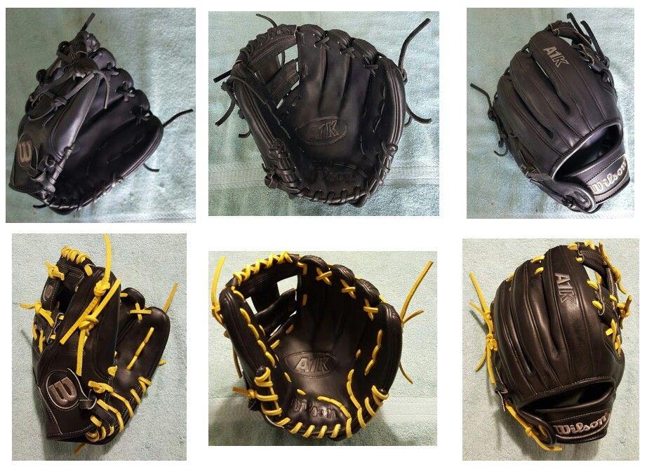 Wilson A1k Relaced In Bright Yellow Gold Custom Baseballs Baseball Glove Gloves