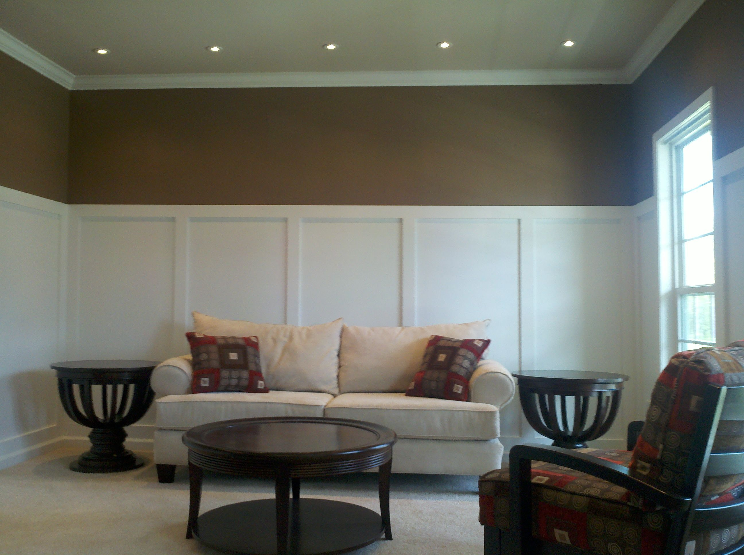 Best Recessed Lighting For Living Room Cheap Furniture Sets Halogen Lights And Board Batten Paneling Add Character To