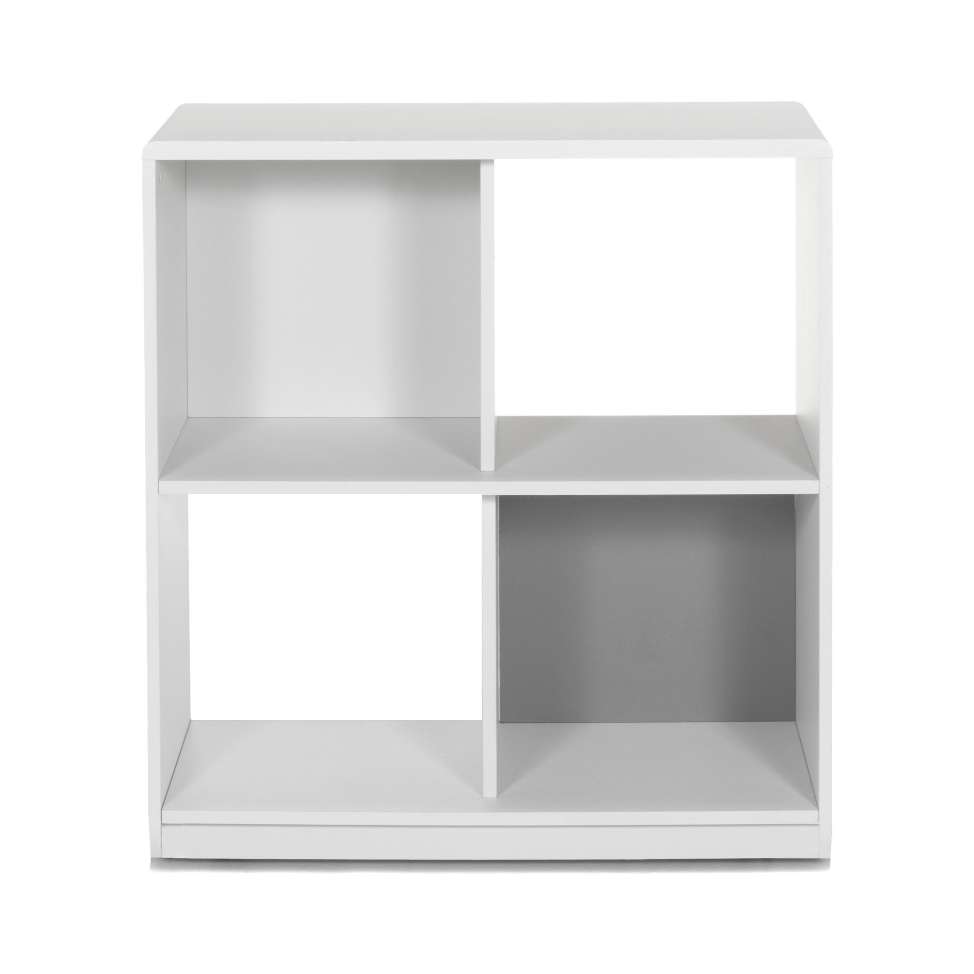 Meuble De Rangement 4 Cases Sur Roulettes Blanc Blanc Réversible Argent    Cool   Les étagères