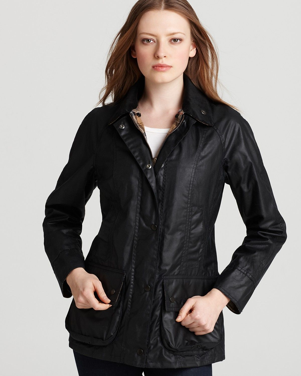 Barbour Beadnell Lightweight Waxed Cotton Jacket | Bloomingdale's ...