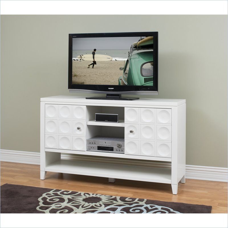 Kathy Ireland By Martin Crescent 36 Tall Tv Stand In White Our