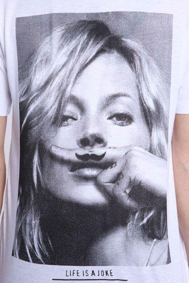 Eleven Paris Kate Moss Moustache Tee
