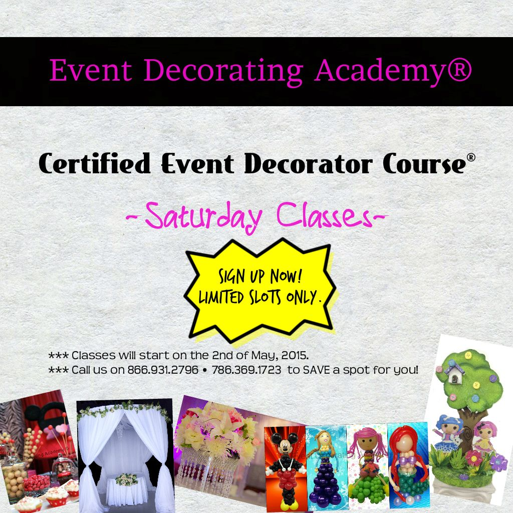 8 Best October Class Certified Event Decorator Images In