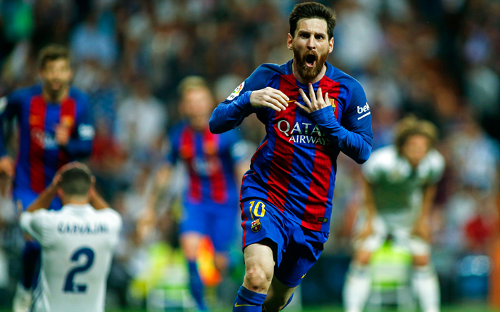 Download Wallpapers 4k Lionel Messi Footballers Goal Fc