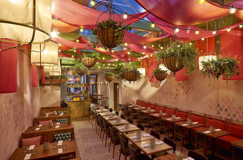 Cinnamon Bazaar Modern Indian Cuisine Covent Garden London Restaurant Design Restaurant Interior Design Indian Cafe
