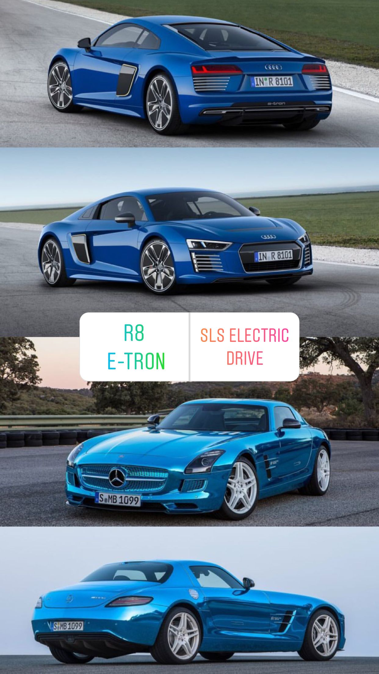 R8 E Tron Or Sls Electric Drive Custom Muscle Cars Audi Super Cars
