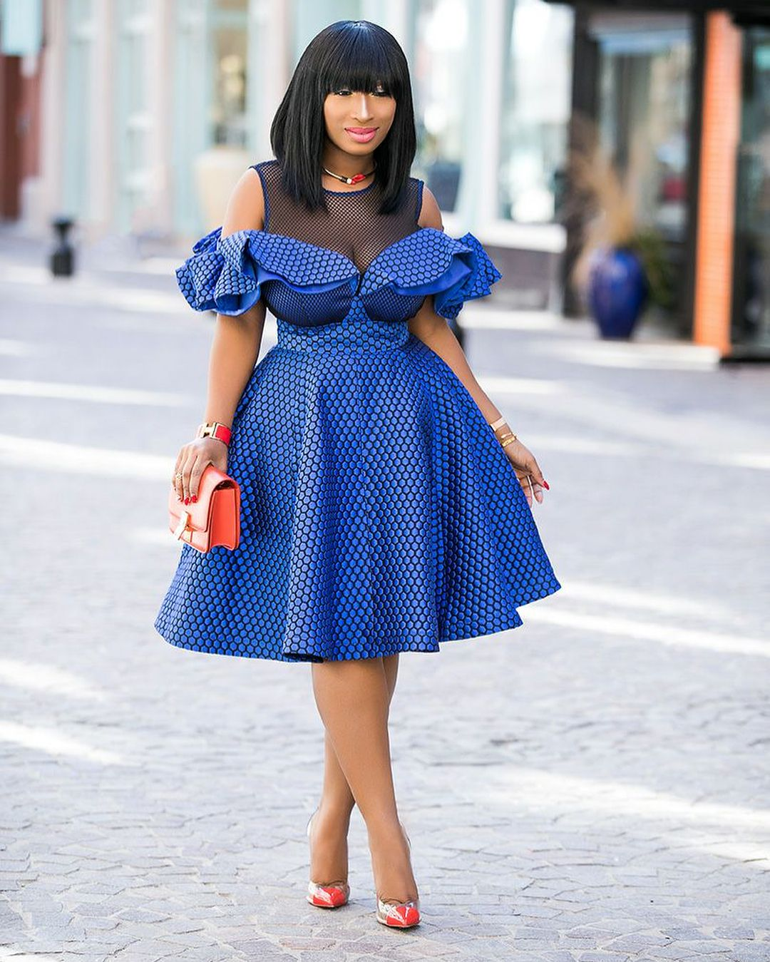 Checkout This Two Piece Outfit Can Be Camouflaged For A Short Dress There Are Two Ways To W Shweshwe Dresses Seshweshwe Dresses African Print Fashion Dresses [ 1349 x 1080 Pixel ]