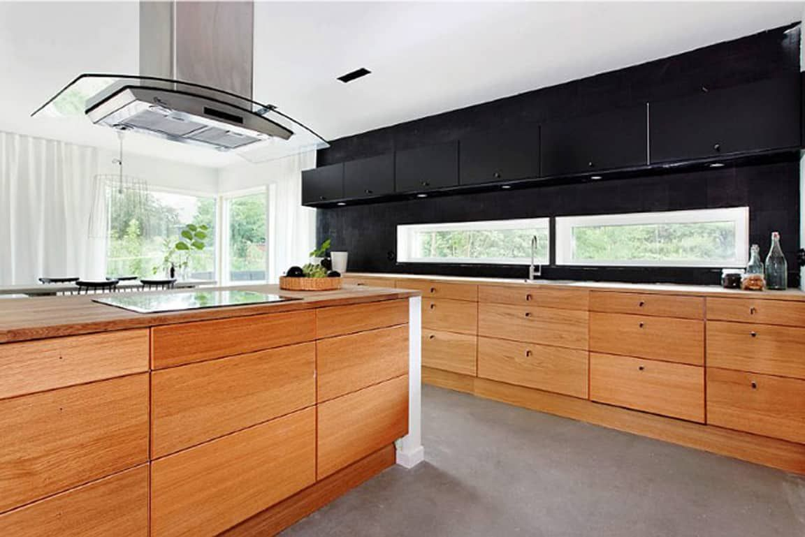 Outstanding Black And Wood Kitchens That Will Add Style To Your Home Homesthetics Inspiring Ideas For Your Home Contemporary Kitchen Design Modern Kitchen Design Modern Wooden Kitchen