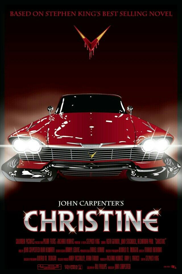 Retro Review: Christine (1983) – The Horror Syndicate |Christine 1983 Poster Back