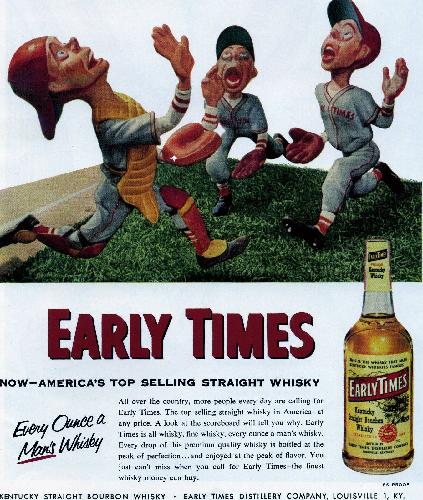 Sports Illustrated SI Page clipping 1954 Early Times
