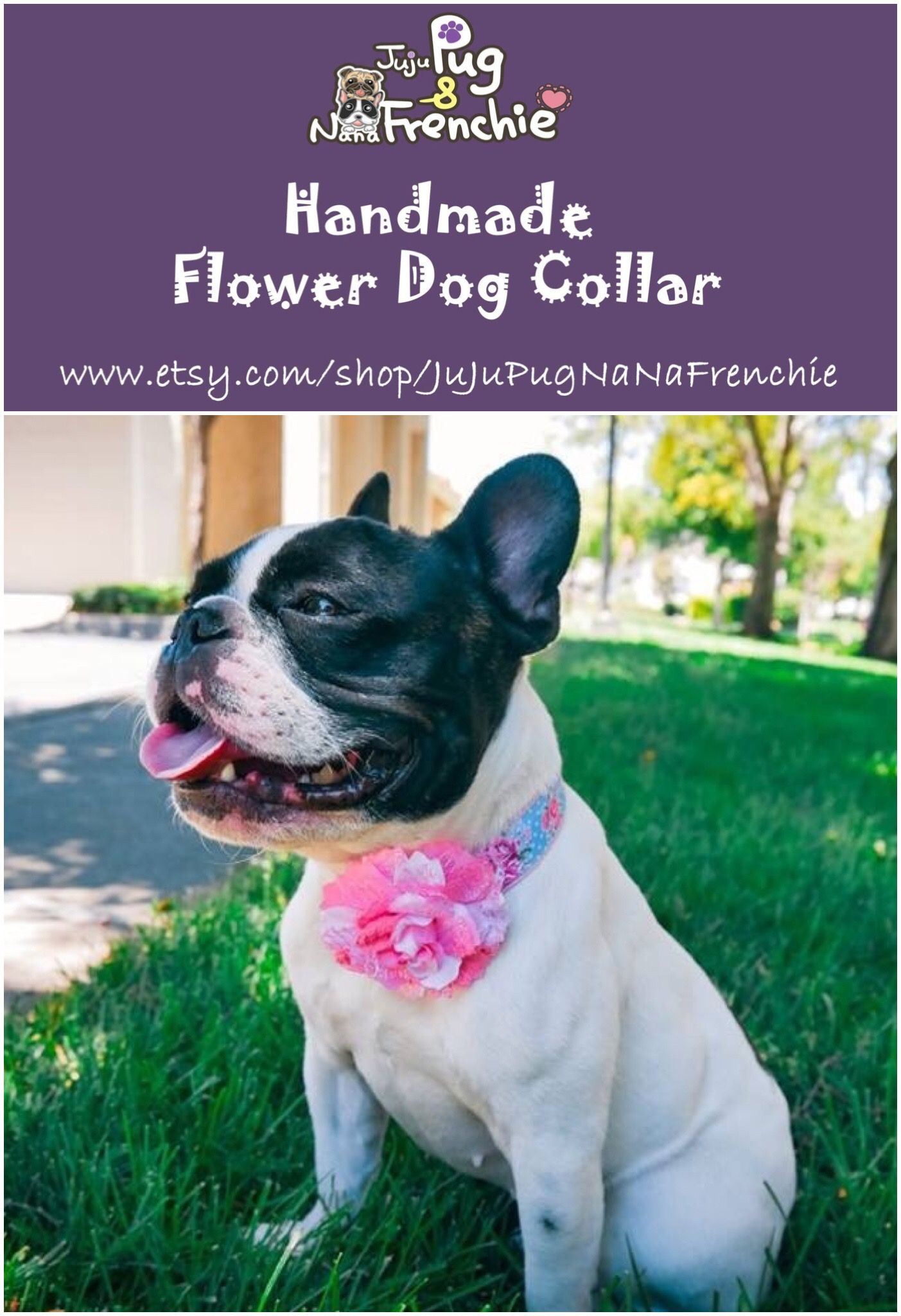 Pink Floral Dog Collar Girl Flower Collar Dogcollar Dogflower