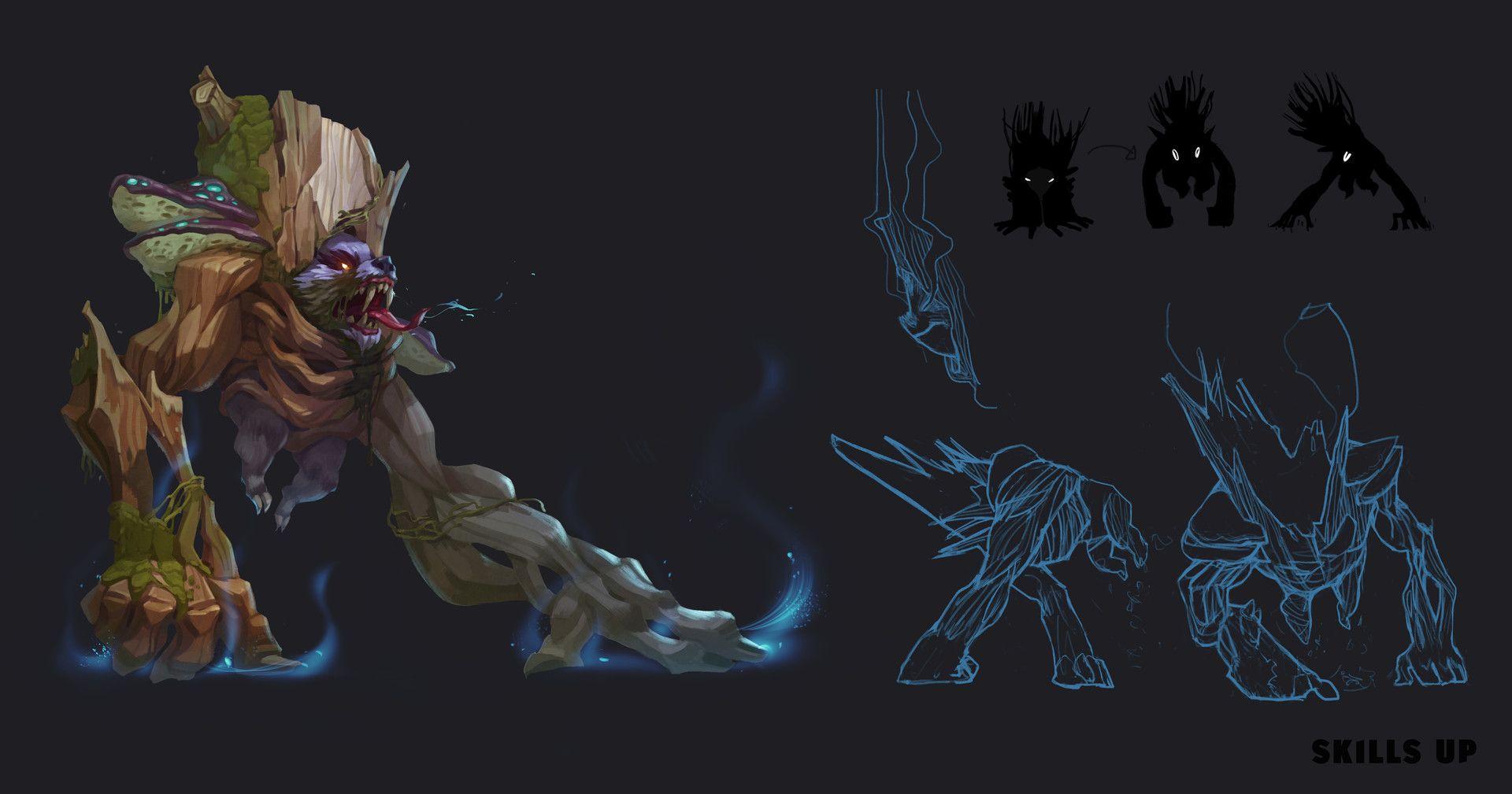 forest monster concept by Skills Up Studio on ArtStation. | 3D ...