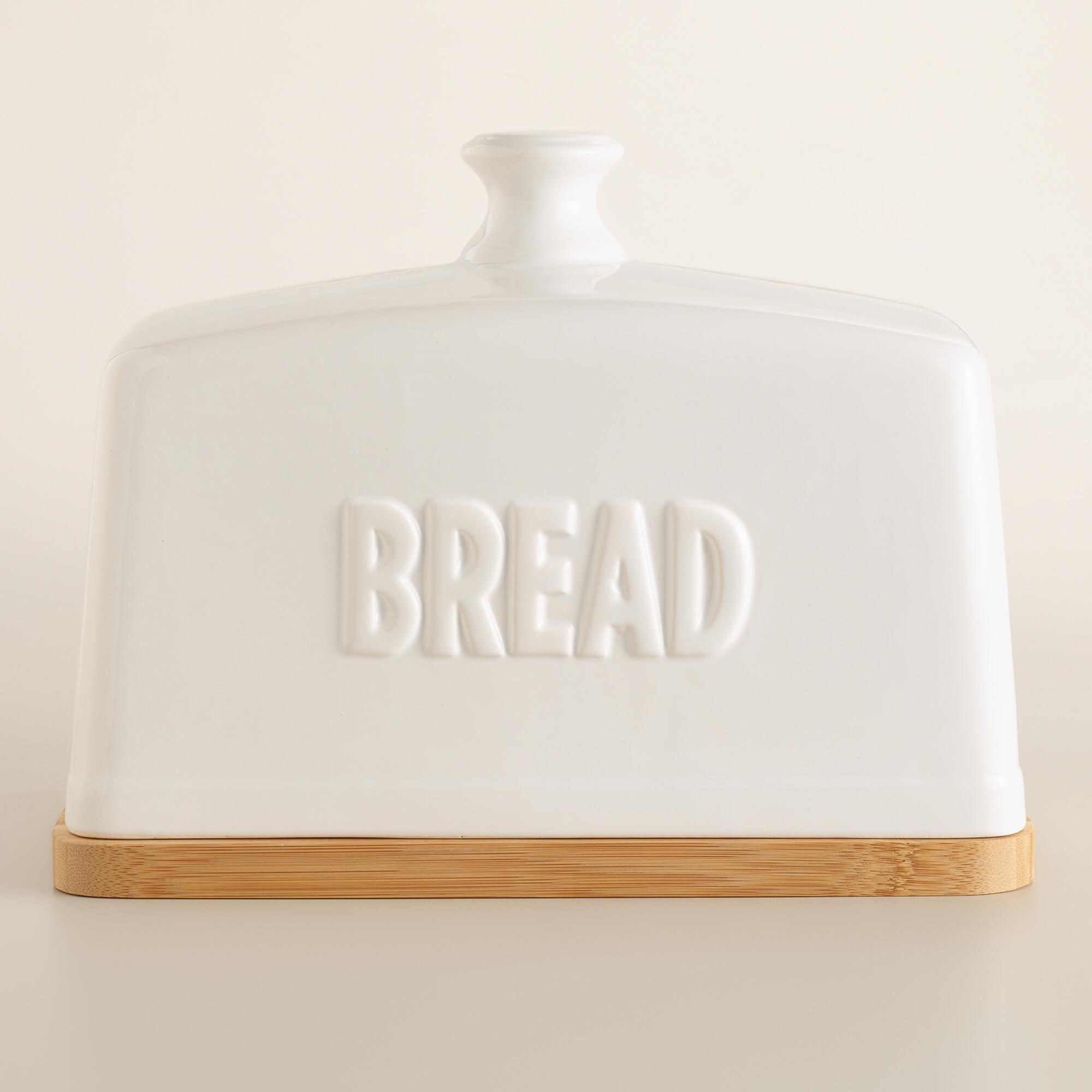 Cream Ceramic Bread Bin Vintage Home Stylish Bread Storage Bin