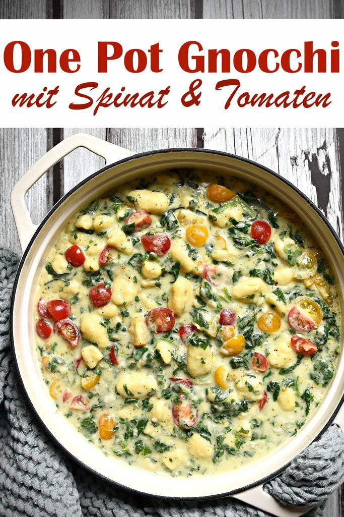 One Pot Gnocchi. Mit Spinat & Tomaten.