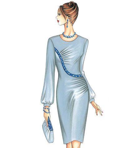 Marfy Dress F3411 | cızım | Pinterest | Mode-Illustrationen, Schöne ...
