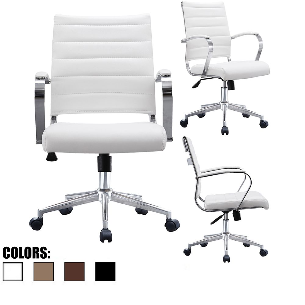 Cool Mid Back Ribbed With Arms Leather Office Chair Inspiration Machost Co Dining Chair Design Ideas Machostcouk