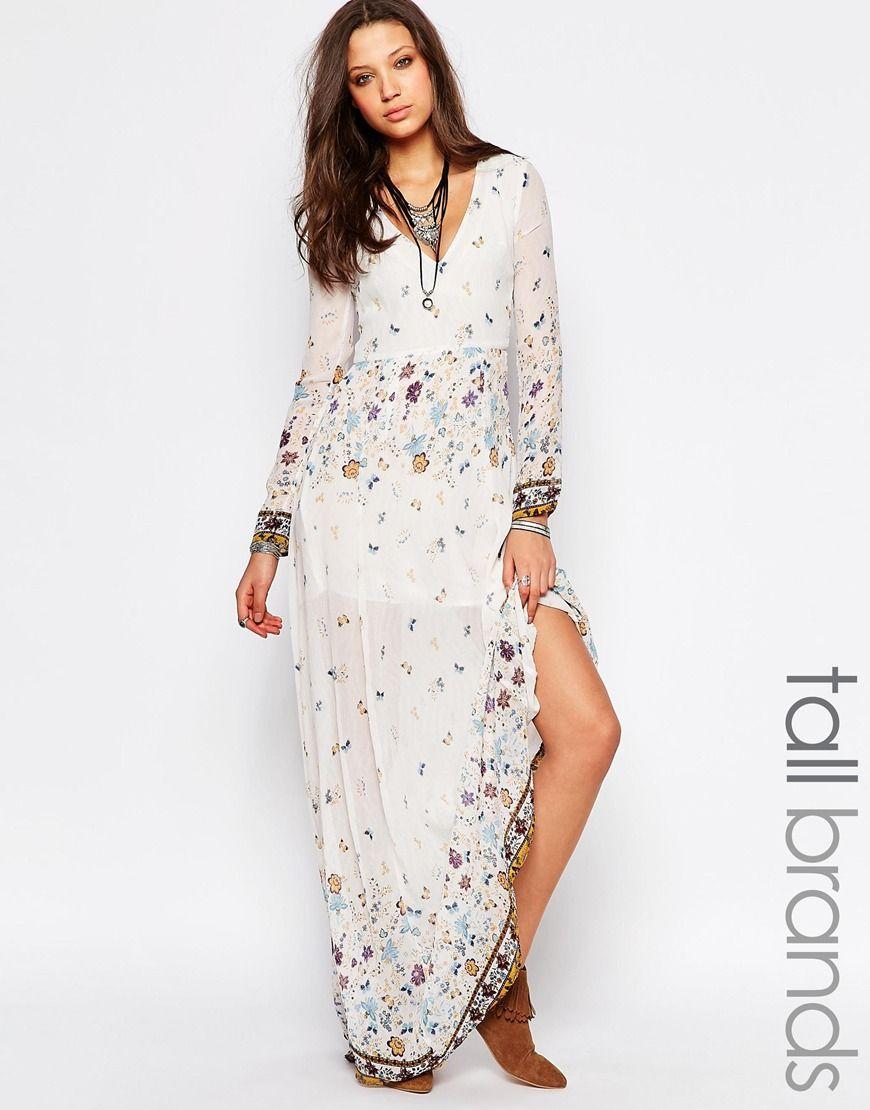 Glamorous Tall Border Print Folk Maxi Dress At Asos Com Maxi Dress Boho Maxi Dress Dresses [ 1110 x 870 Pixel ]