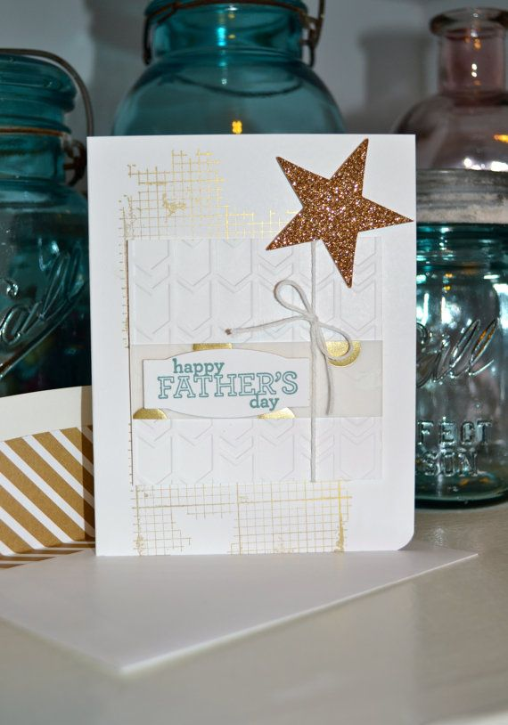 Metallic Father's Day Card by TheRoundedCorner
