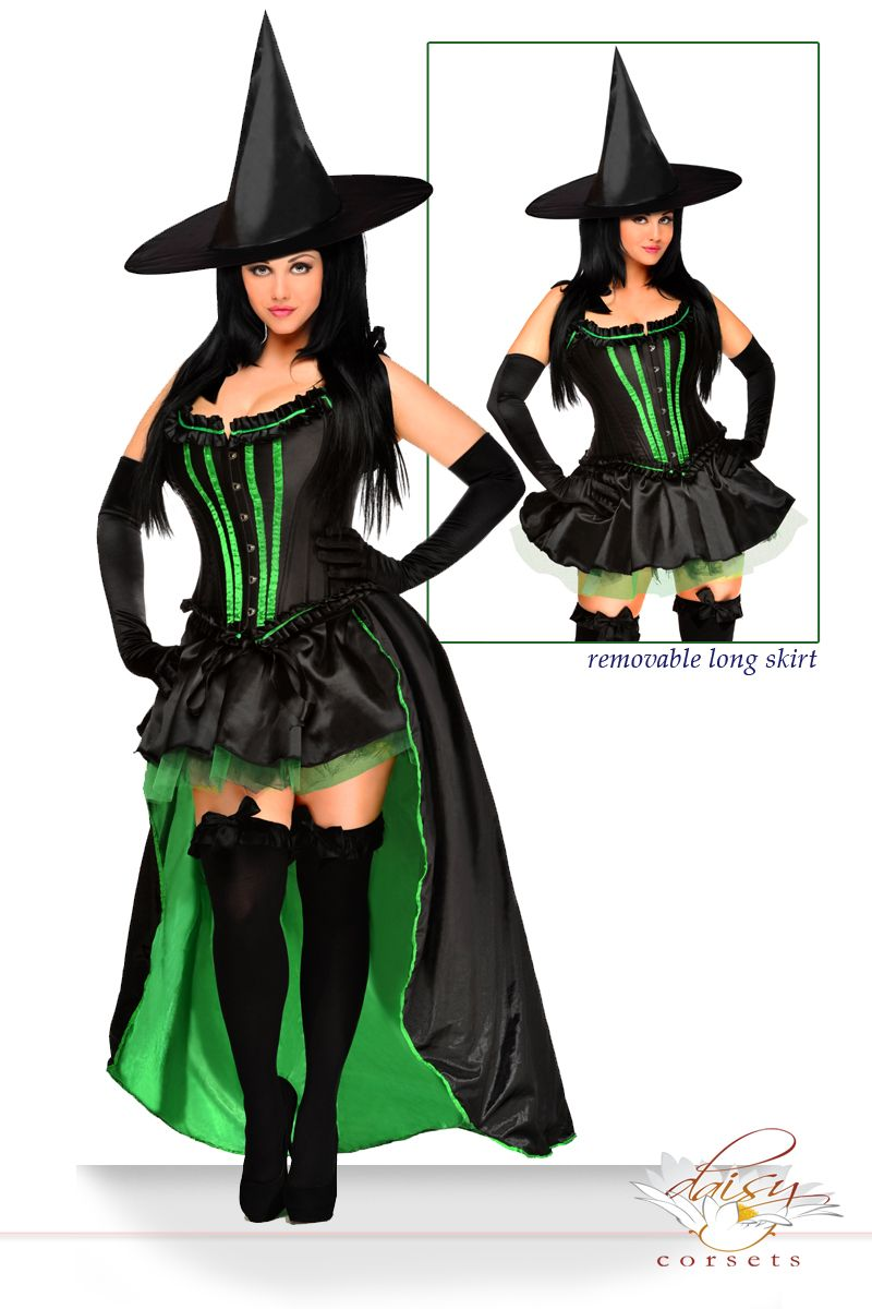 Daisy Corsets 5 PC Sexy Wicked Witch Costume Daisy-2017 Sizes S,M ...