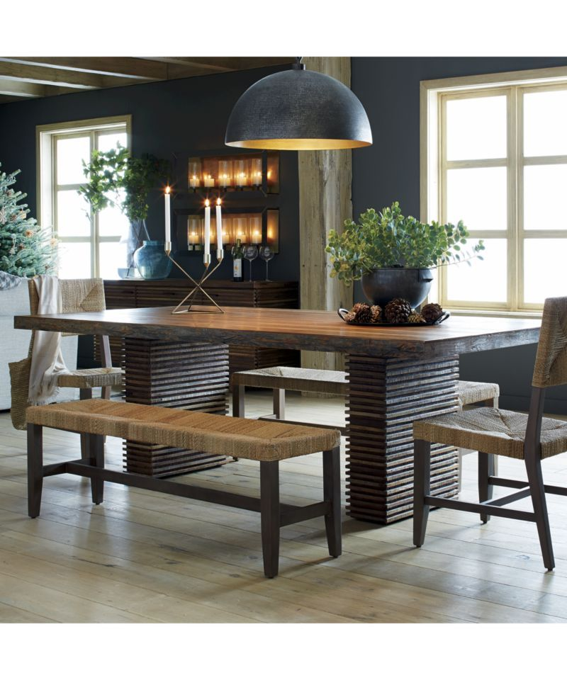 Fiji Bench Crate And Barrel Reclaimed Wood Dining Table