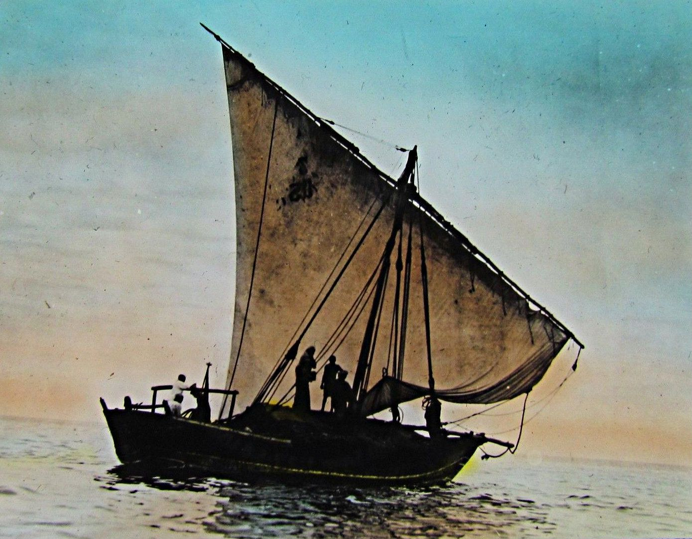 Arab Dhow leaving Mombasa Kenya 1933
