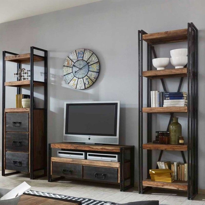 deco etagere industrielle. Black Bedroom Furniture Sets. Home Design Ideas