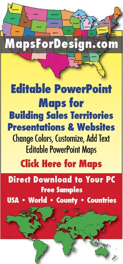 Editable PowerPoint maps for sales territories ...