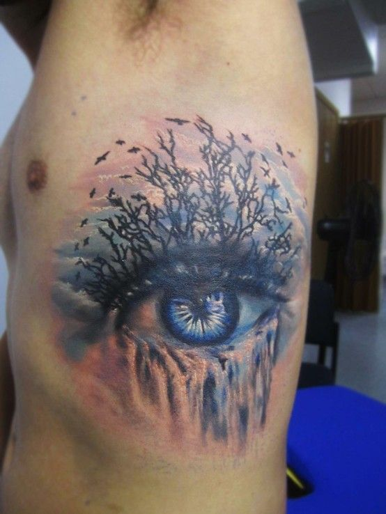 ce6fbd3ae Eye of Earth tattoo Billy would so get a tattoo of one eye.....this is cool