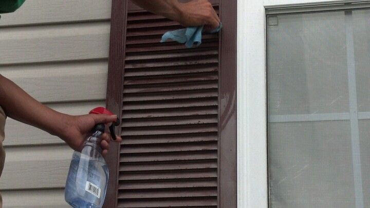 Bring Back Luster To Faded Vinyl Shutters By Using Using Tire