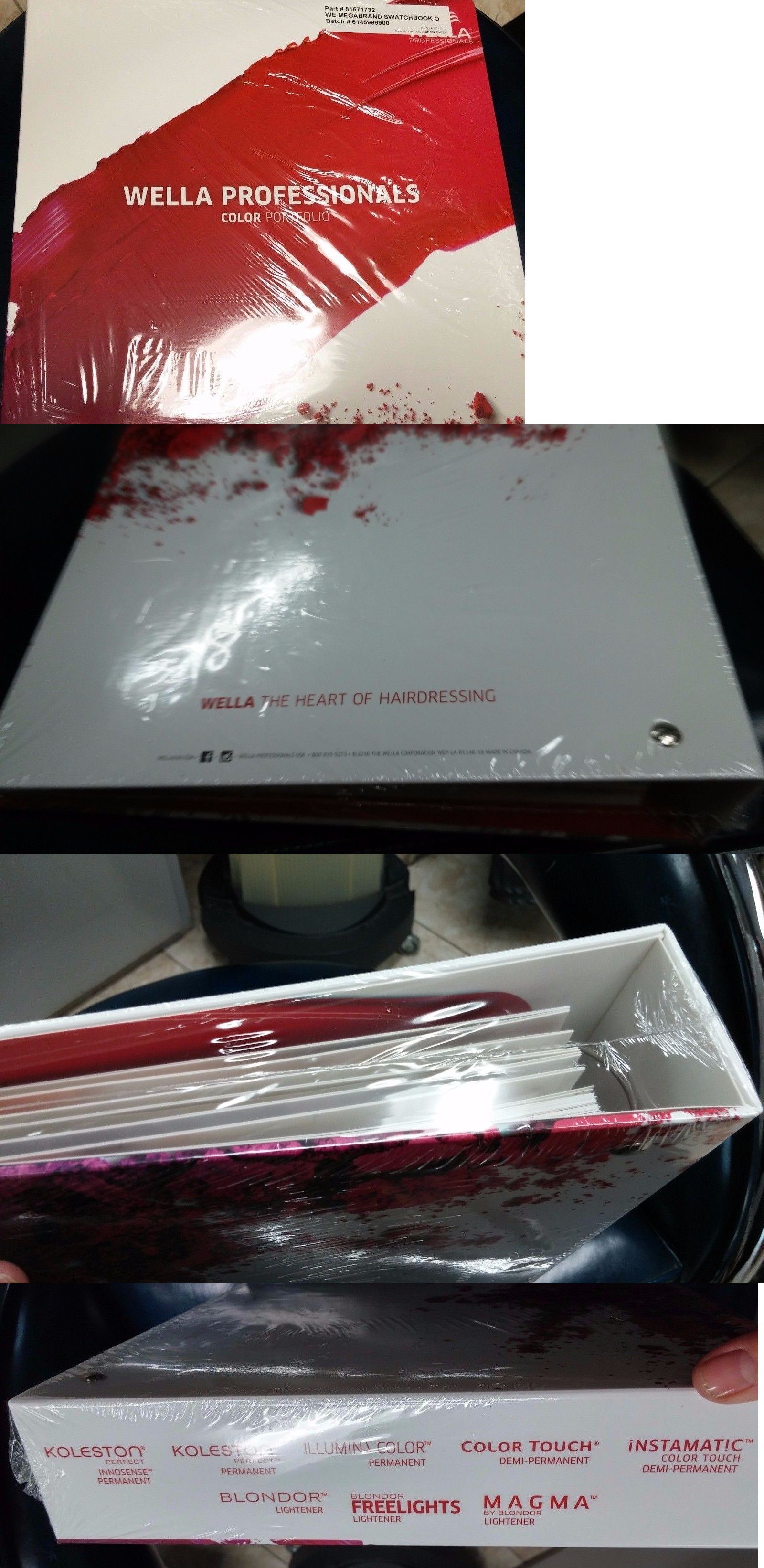 Salon and Spa Supplies: Wella Pro-Color Swatch Book English And ...