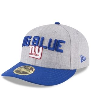 wholesale dealer 37cac 978ad New Era New York Giants Draft Low Profile 59FIFTY Fitted Cap - Gray 7 1 4