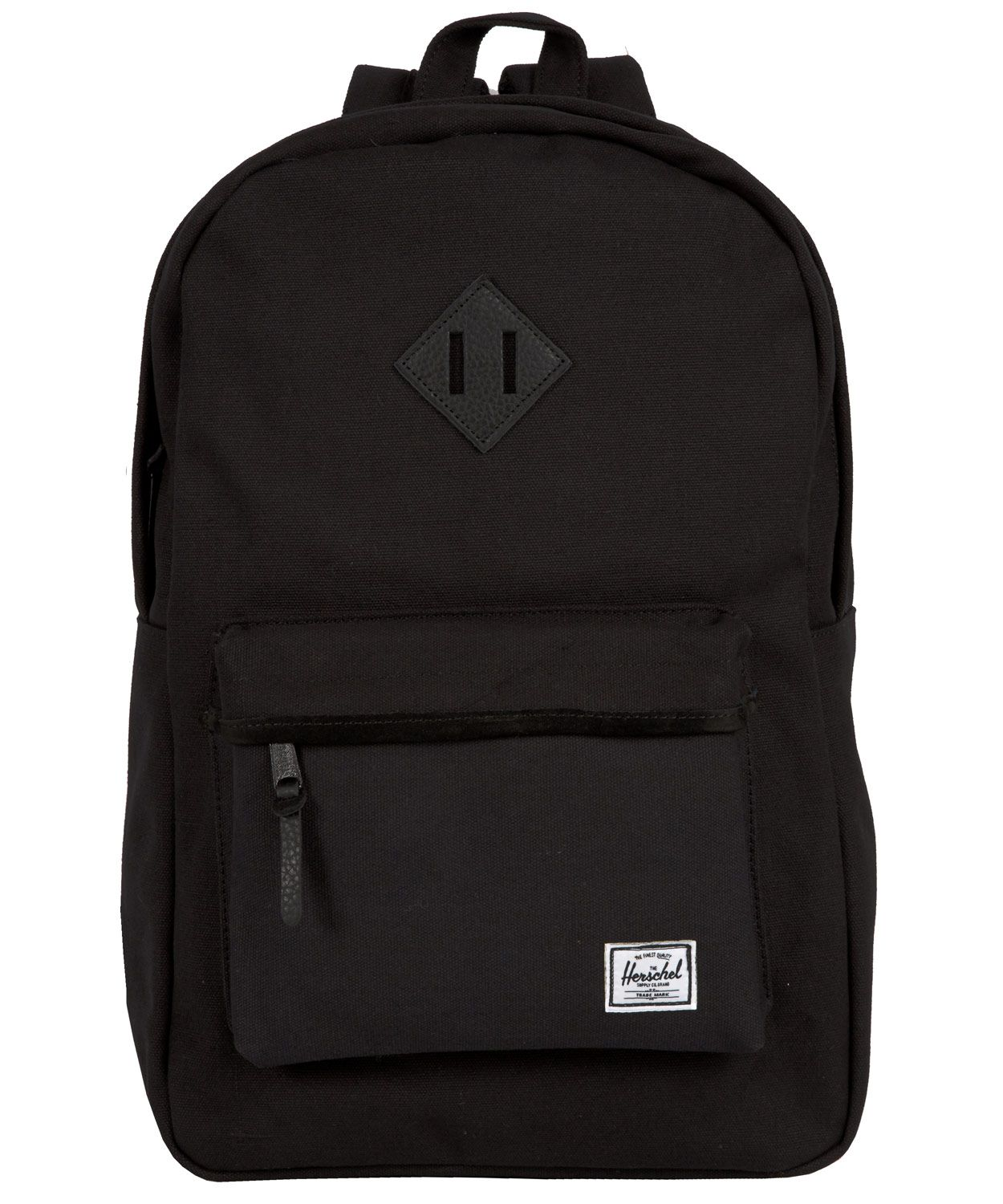 70c49923bfd All black everything. Herschel's Heritage Canvas Backpack online at ...