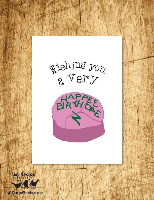 Printable Harry Potter Wishing You A Very Happee Harry Potter Cards Harry Potter Birthday Cards Harry Potter Gifts Diy