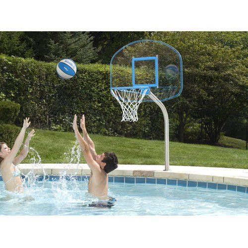 Dunnrite junior clear hoop swimming pool basketball hoop good overall rated and customer - Pool basketball ...
