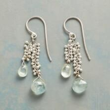 These sterling silver gemstone earrings capture the exquisite beauty of light on water.