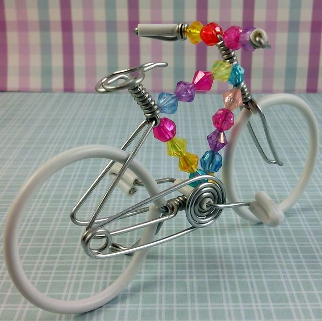 beautiful miniature wire mix beaded bikes. - see more at: http
