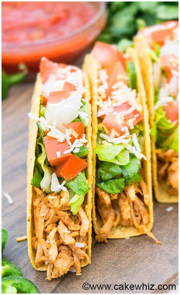Shredded Chicken Tacos Recipes Chicken Taco Recipes Food