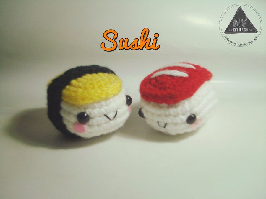 Amigurumi Kawaii Free : Sushi amigurumi free pattern tutorial by nvkatherine fabric