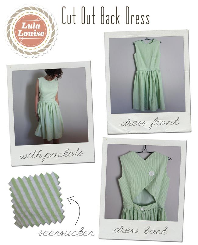 Lula Louise: Cut Out Back Seersucker Dress | in stitches | Pinterest ...
