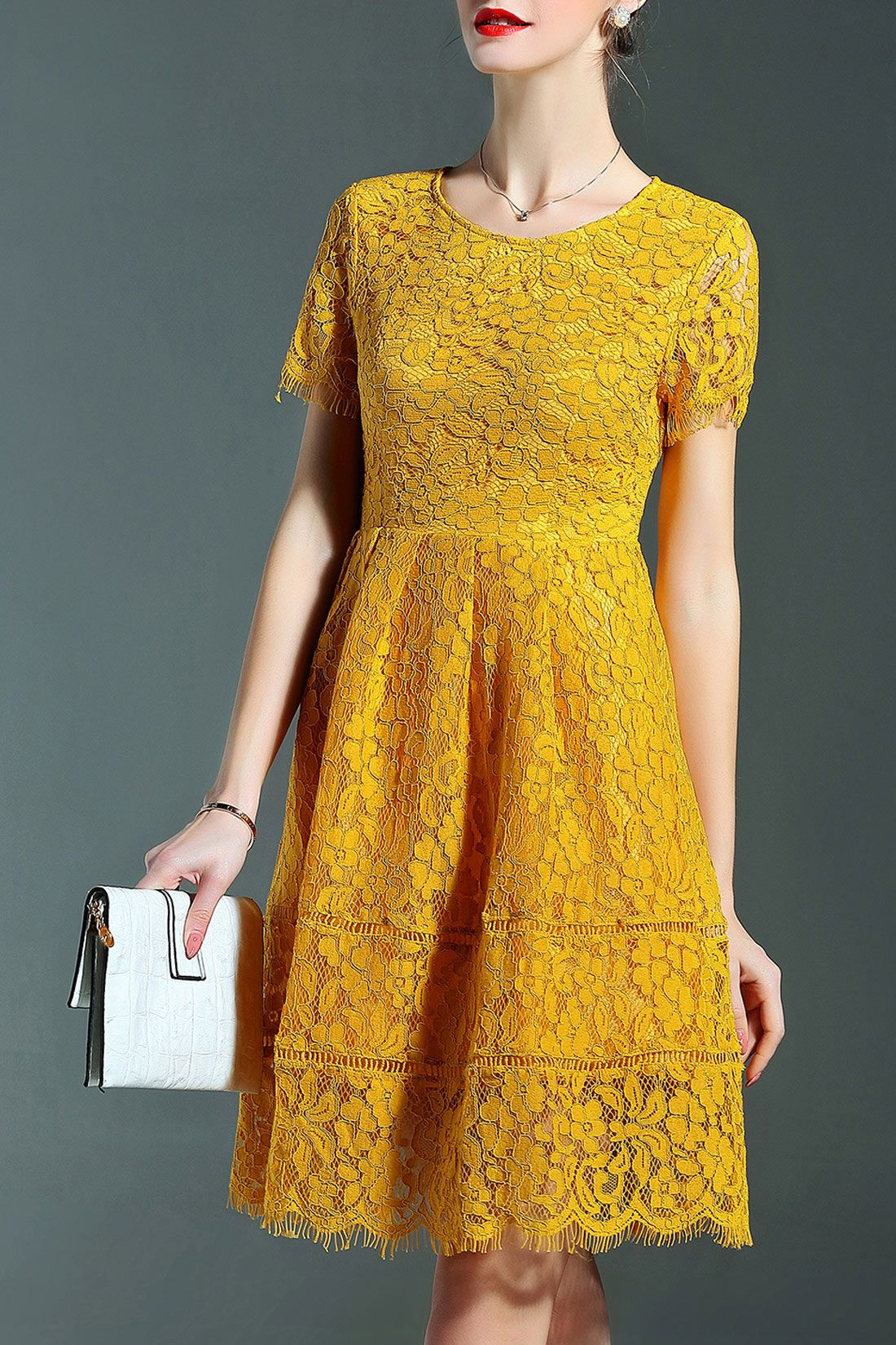 4ae3e766479 mustard lace dress for fall