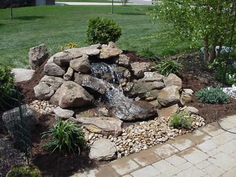 Small Waterfall Pond Landscaping For Backyard Decor Ideas 46 Wasserspiel Garten Wasserfall Garten Springbrunnen Garten