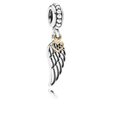 Promise to love always my angel wings pendant For Bracelet necklace-European