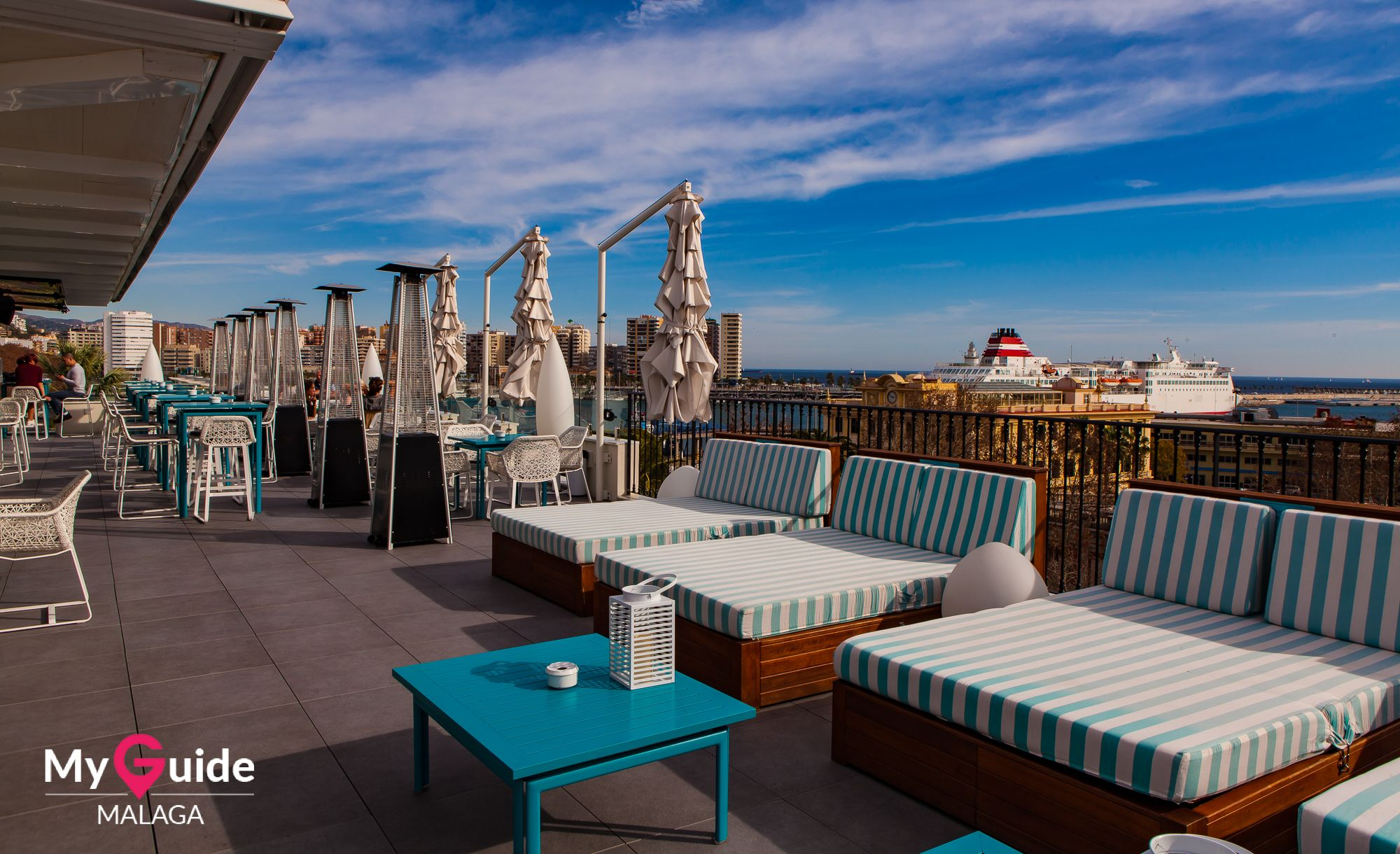 The Extensive Terrace Of The Hotel Valeria In Central M