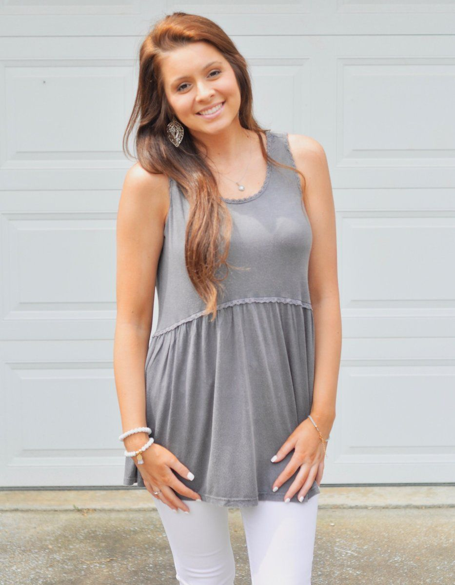 a414438655 Eyelet Trim Tank in 2019 | TOPS-Spring/Summer 2019 Collection | Tops ...